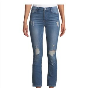 Black Orchid Joan High-Waist Distressed Jeans